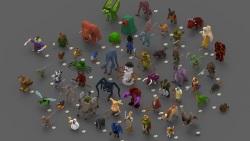 55 voxel creatures